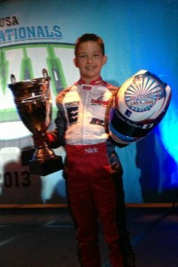 Nicholas Brueckner finished third in the TaG Cadet category at the SKUSA SuperNationals XVII
