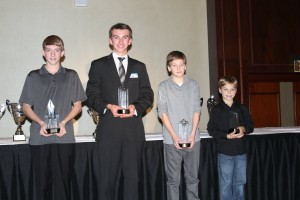 Triple and double class winners (L to R) Brandon Lemke, Collin Griffin, Becker Reardon and Mark Fineis (Photo: Joe Brittin)