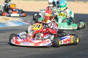 Nicholas Brueckner battled strong in his Rotax Challenge of the Americas Junior Max debut (Photo: SeanBuur.com)