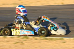 Jacob Blue Hudson drove away to the win in Mini Max (Photo: SeanBuur.com)