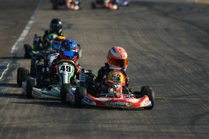 Jak Crawford fought back again to win a second Micro Max feature (Photo: SeanBuur.com)