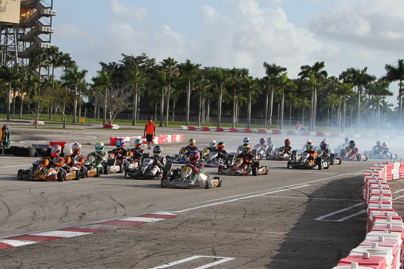 Florida Winter Tour kicked off round one of the Formula Kart weekend Saturday (Photo: Ken Johnson - FWT/Studio 52)
