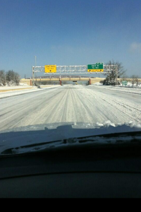 I-465 heading toward the Indy airport was not exactly safe
