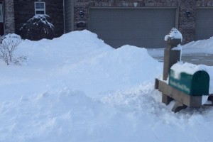 Snow hit the Great Lakes area, especially in Indy