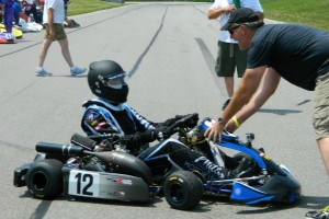 Rob and his son Carson are second and third generations in karting