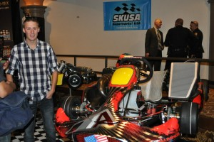 Cory Milne and Aluminos provided a Stock Moto and TaG kart for display, and to test the Modesto GP circuit (Photo: Joanne  Azevedo - City of Modesto)