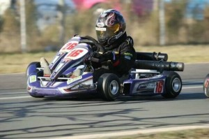Nicholas during his yearly years of karting (Photo: N. Rowe)
