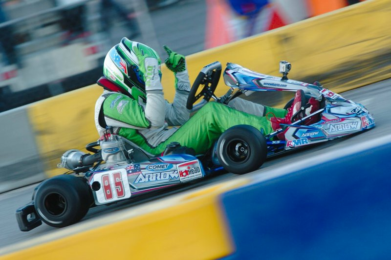 Nicholas Rowe celebrating the TaG Senior victory at SuperNationals XVII (Photo: On Track Promotions - otp.ca)