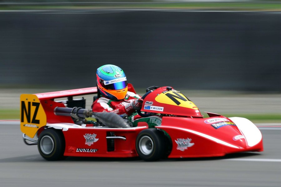 Defending New Zealand SuperKart International class champion Karl Wilson in action (Photo: Hagen Hopkins)