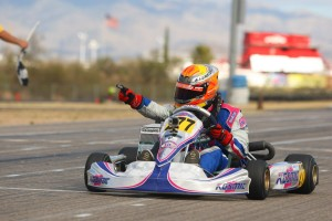 Versteeg celebrates his first Rotax Challenge of the Americas victory in Junior Max (Photo: Studio52.us)