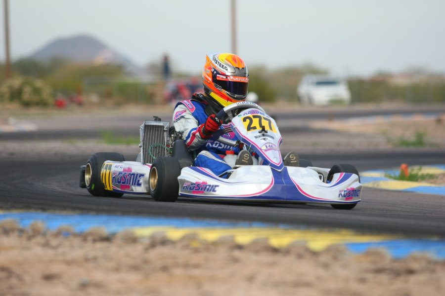 Austin Versteeg drove away from the Junior Max field on Saturday (Photo: SeanBuur.com)