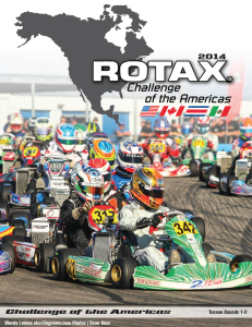The first cover of the new Rotax Challenge of the Americas Digital Magazine