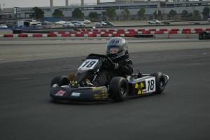 Kid Kart Honda winner Copper Hicks in action at CalSpeed (Photo: LAKC.org)
