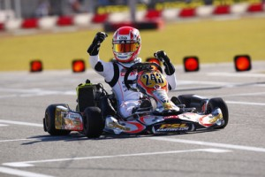 Pedro Cardoso scored a triumphant victory in Rotax Junior and holds the overall point lead in the class (Photo: Lennox Racing)