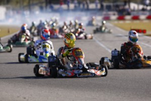 Factory CRG pilot Jordan Lennox posted a third place podium result on Sunday after an up and down weekend (Photo: pslkarting.com)