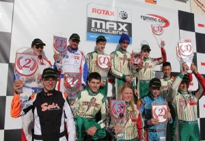 Winners of the first round of the Rotax Winter Cup at Campillos (Photo: www.rgmmc.com)