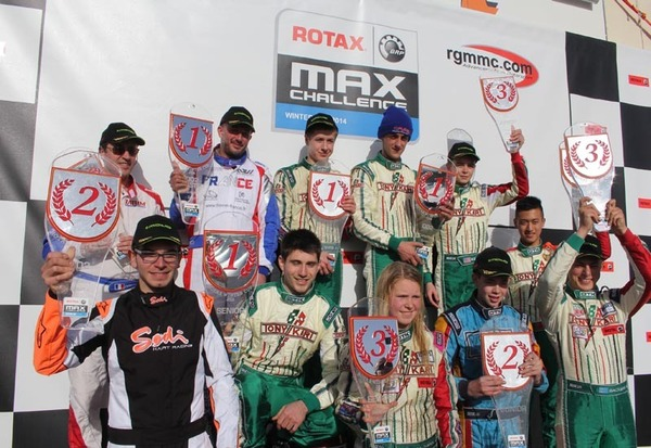 Winners of the first round of the Rotax Winter Cup at Campillos