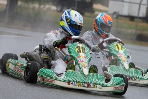 Oliver Askew and Nick Neri battle in Formula Stock Moto Saturday.  (Photo: Ken Johnson - Studio52.us)