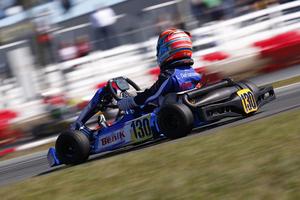 Lachlan DeFrancesco steered his BENIK Kart to a pair of pole positions in Rotax Mini Max  (Photo: DeFrancesco Racing)