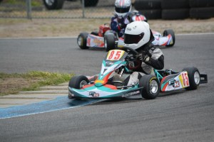 Top finisher amongst the four-strong Kiwi squat at the meeting was 10-year-old Auckland driver Joshua Parkinson (Photo: HotShot Photography)