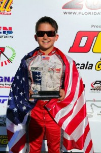 Nicholas Brueckner earned his first TaG Junior podium finish at the Florida Winter Tour event at Orlando Kart Center (Photo: Ken Johnson - Studio52.us)
