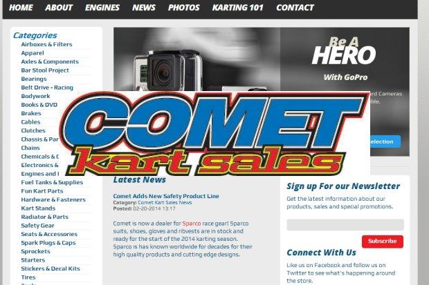 Comet Kart Sales site