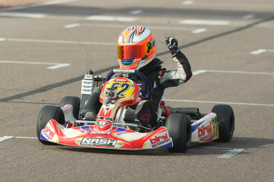 Crawford drove to another two-win weekend at the Rotax Challenge of the Americas round in Phoenix (Photo: SeanBuur.com)