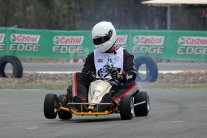 Dale Verrall aboard his 1974 Margay Concept kart (Pic: Russell King)