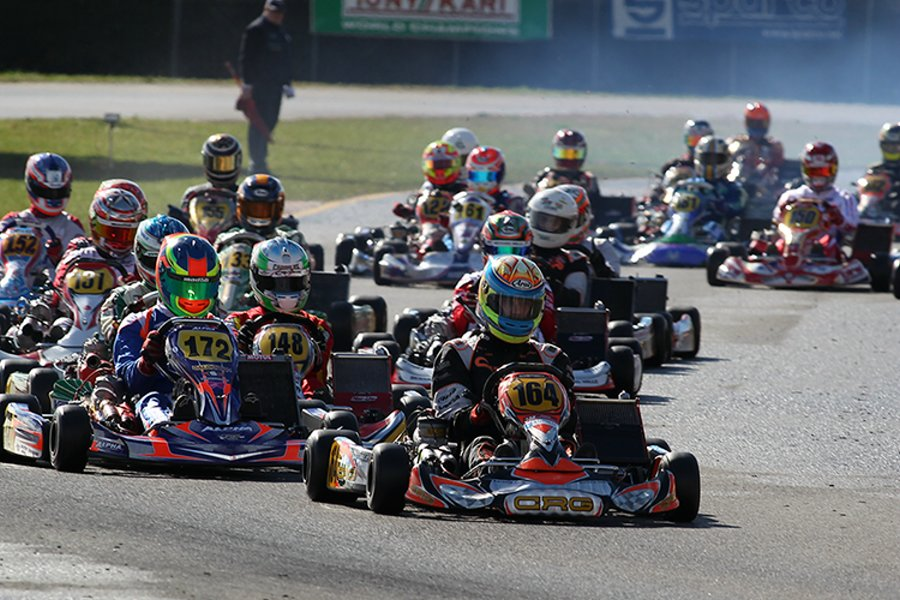 Andrea Dalè leading the KZ2 field Saturday (Photo: FMPress)