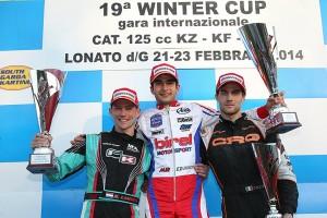 KZ2 podium - Lammers, the winner De Conto, Dalè (Photo: FMPress)