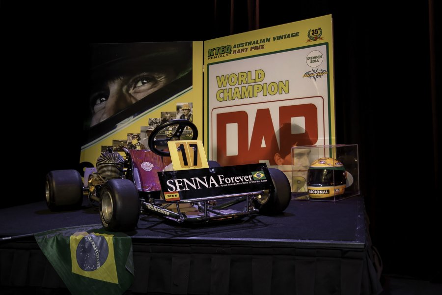 The DAP kart Ayrton Senna drove in the 1979 World Karting Championships (Pic: Russell King)