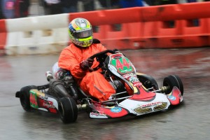 Josh Lane drove his DR Kart to victory in the headline Stock Honda Light category (Photo: Shofner Films)
