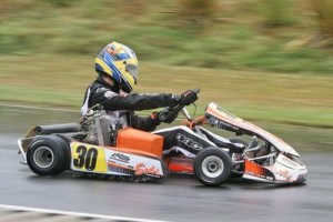 Mathew Kinsman made it two round wins in a row in the Logitech Rotax Max Light class at Rotorua (Photo: Fast Company/Graham Hughes)