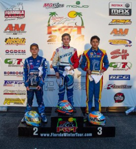 Top Kart was well represented on the TaG Junior podium throughout the Florida Winter Tour (Photo: Ken Johsnon - Studio52.us)