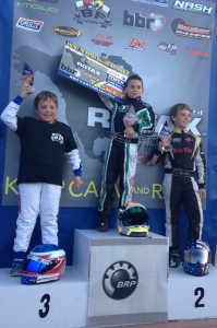 Tavella has honored as the RCOA Mini Max class champion and was awarded a ticket to the 2014 Rotax MAX Challenge United States Grand Nationals  (Photo credit: DylanTavella.com)