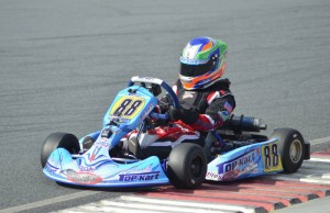 Pauly Massimino showed speed in Mini-Rok 60 Cadet (David Lee Photography)