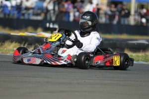 Stephan Gaudreau drove to an Aluminos victory at the Red Line Oil Karting Championship opener (Photo: dromophotos.com)