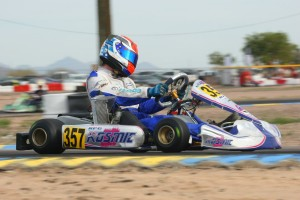 Defending Senior Max champion Phillip Arscott is in the driver's seat for a repeat (Photo: SeanBuur.com)