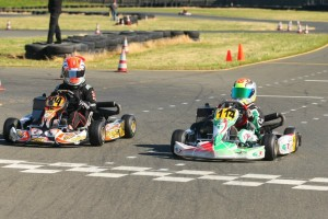 A photo finish gave Dylan Tavella his second victory in Mini Max (Photo: SeanBuur.com)