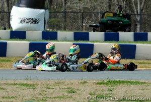 A last lap pass secured the top step of the podium for #14 Dylan Tavella (Photo: DavidLeePhoto.com)