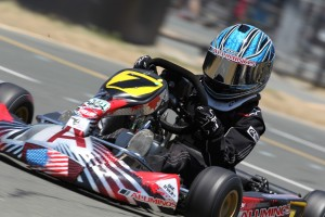 Grant Langon drove to victory aboard his Aluminos Cadet chassis in Micro Max at the Red Line Oil Karting Championship event (Photo: dromophotos.com)