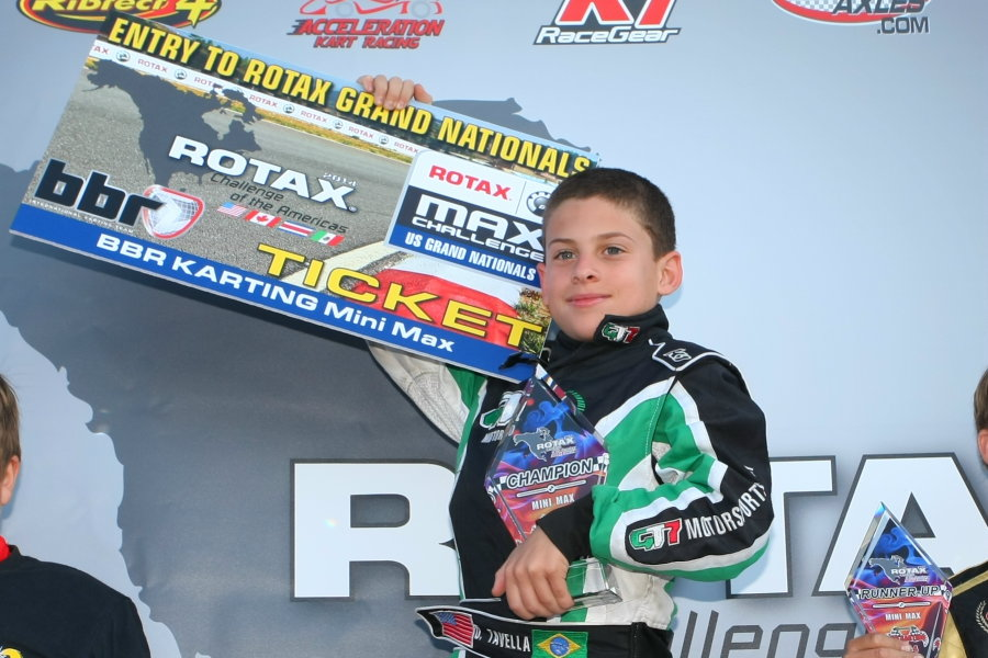 Tavella clinched his first Rotax Challenge of the Americas title, besting the MIni Max field (Photo: SeanBuur.com)