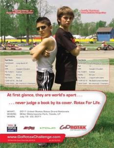 Austin Versteeg (r) in a 2011 GoRotax ad