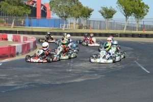 TaG Cadet drivers get ready for the green flag at Round Four of the Los Angeles Karting Championship (Photo: LAKC.org)