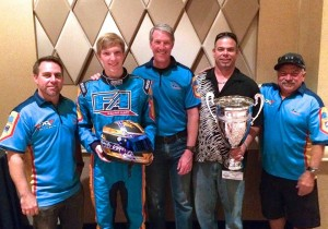Phil Giebler Racing with Connor Wagner and Kindhart holding the SuperNationals XVII trophy