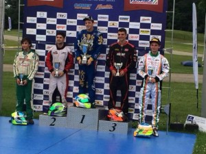 Gabriel stands tall on the USPKS podium after his runner-up finish Saturday in Leopard Pro