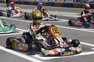Jordon Lennox-Lamb ran at the top of the 47-kart Rotax DD2 field all weekend long (Photo by: Fernando Morandi/CRG)