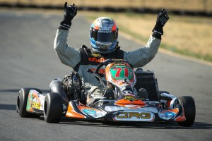 Veteran Ron White scored his first California ProKart Challenge victory in S1 (Photo: dromophotos.com)