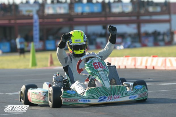 Craig drove to a double-win weekend at the Superkarts! USA SpringNationals (Photo: On Track Promotions - otp.ca)
