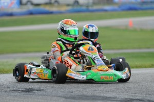 Alex Bertagnoli was quick all day in Mini Rok Cadet, scoring the feature win (Photo: DavidLeePhoto.com)